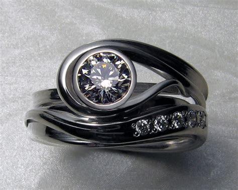 Unique   free form, engagement ring set   Design your own