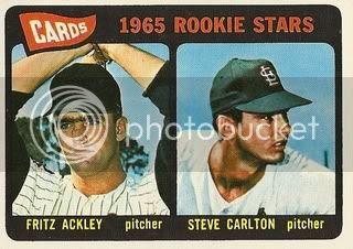 #477 Cardinals Rookies: Fritz Ackley and Steve Carlton