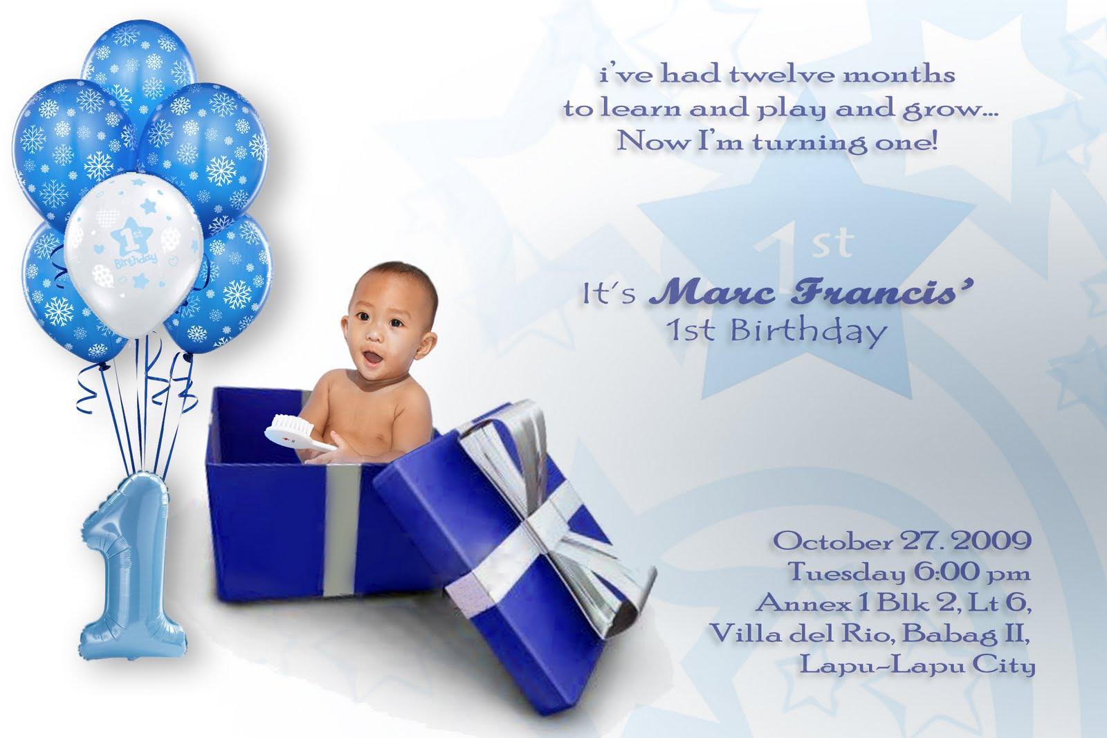Invitation Card Design For 1 Year Old Birthday Old Birthday