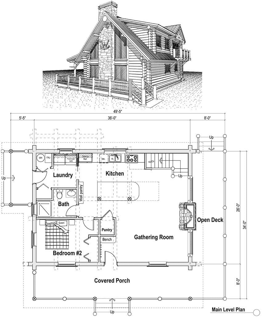 16X24 Cabin Plans with Loft 16X20 Cabin Floor Plans, small