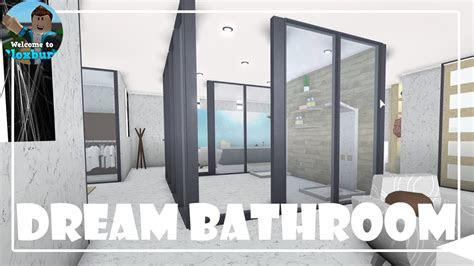 building  dream bathroom   bloxburg youtube