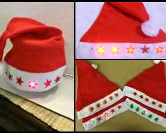 Topi Santa Natal Christmas Lampu Menyala LED – 162