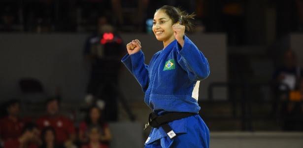 Mariana Silva durante o Pan do ano passado; judoca foi prata no Grand Prix neste sábado