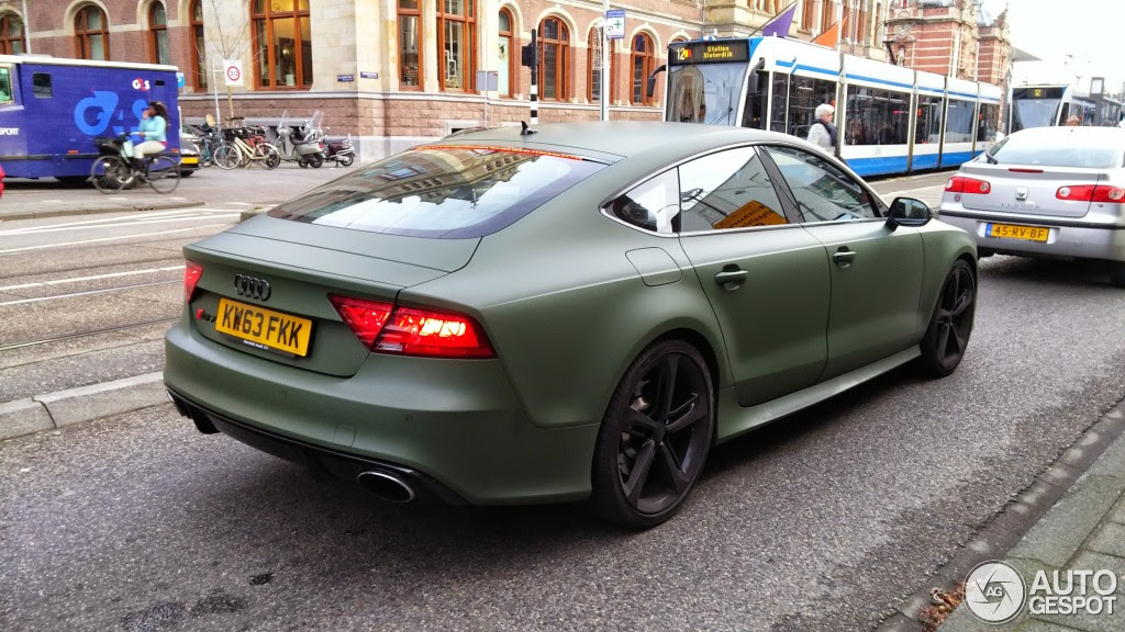 green audi rs7 4 175x175 at Spot: Matte Military Green Audi RS7