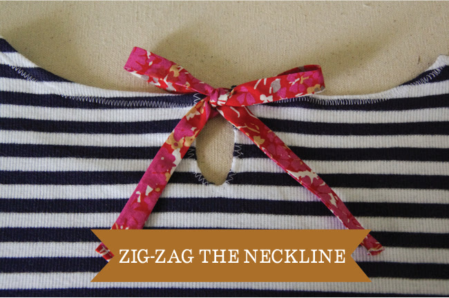 Embellish - zig zag the neckline