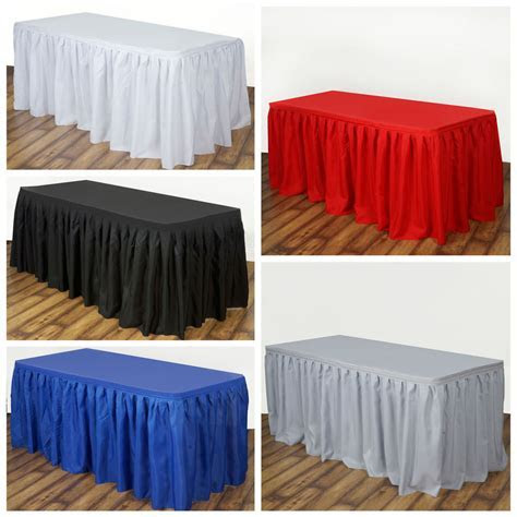 """21 feet x 29"""" Polyester Banquet Table Skirt Wedding Party"""