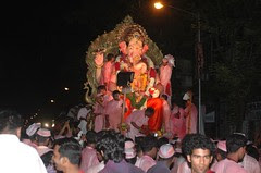 Lal Bagh Chya Raja Towards His Home in the Seas by firoze shakir photographerno1