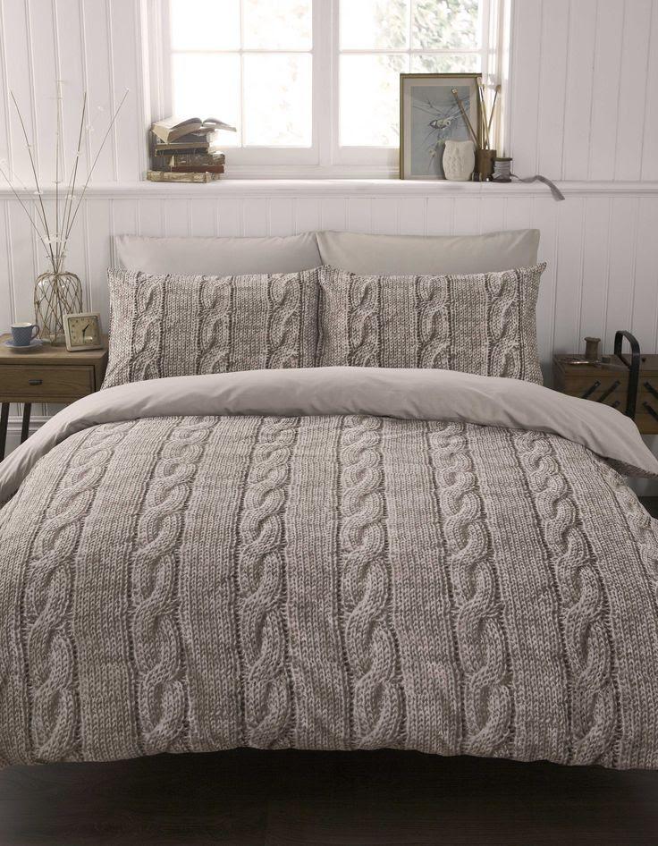 #bedding Cable Knit Duvet Cover Set Double | Yorkshire Linen
