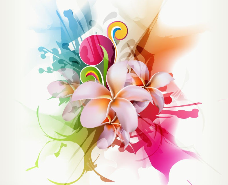 Abstract Floral Vector Illustration Artwork Free Vector Graphics