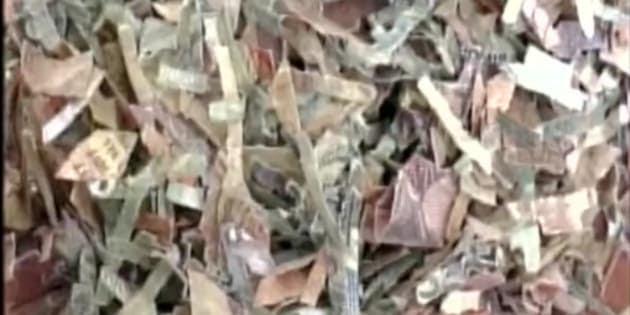 Image result for Indian money 500 1000 burned out