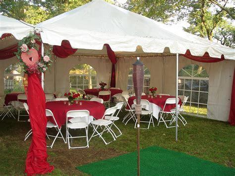 20x20 Wedding Tent RED   Party Rental Miami
