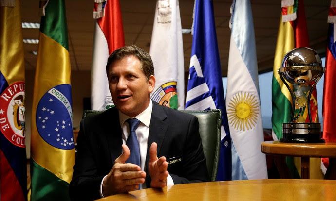 Alejandro Domínguez, presidente da Conmebol (Foto: Jorge Adorno/Reuters)
