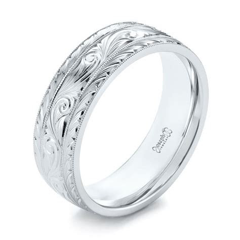 custom hand engraved mens wedding band  seattle
