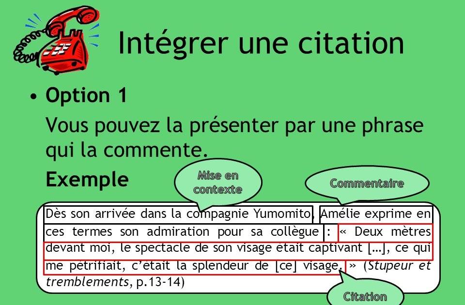 Comment Mettre Une Citation Dans Un Texte - Exemple de Texte