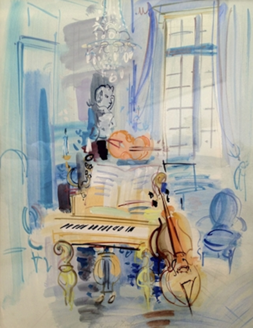 artnet:  Raoul Dufy on artnet Auctions Fauvist French painter Raoul Dufy often painted with foreshortened perspective and cheerful colors, depicting optimistic themes such as parties, musical events, and views from the French Riviera.  His beautiful Interieur aux instruments de musique (c.1940) is now live for bidding on artnet Auctions.