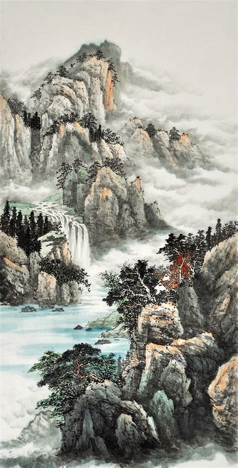 Modern art famous artists Feng shui painting Nature for