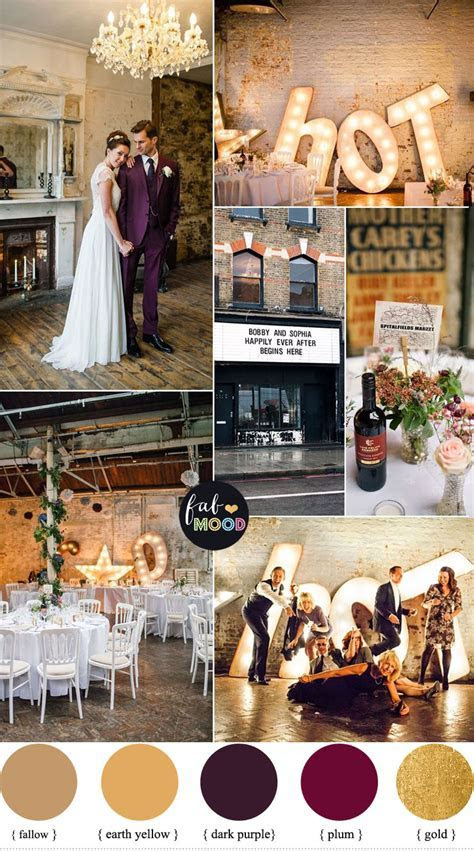 1920s Wedding Theme { Gold and Plum wedding colours }