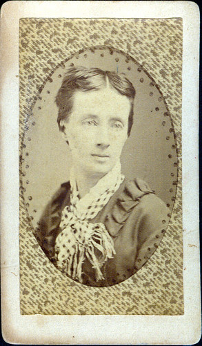 Woman with lace collar
