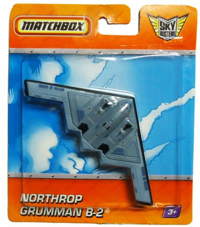 2010 Matchbox Sky Busters NORTHROP GRUMMAN B-2 (Nation Guard) blue grey bomber plane