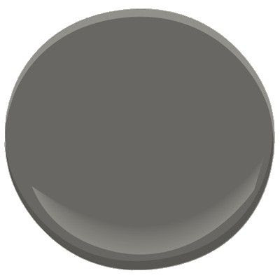 BM Kendall Charcoal HC-166  Rich, deep, and luxurious, kendall charcoal pops beautifully when paired with crisp white room accents and trim. A versatile neutral, it also works well with most colour schemes.