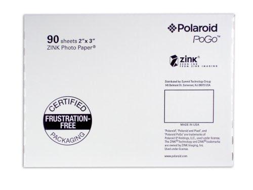 Polaroid Aza 09011f Pogo 90 Pack Zink Photo Paper