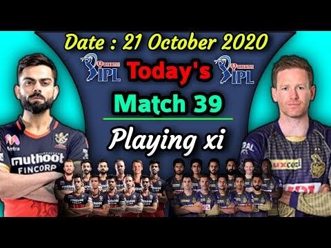IPL 2020 - Match 39 | Kolkata Knight Riders v/s Royal Chellengers Bangalore Playing xi | RCB vs KKR