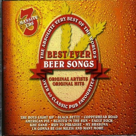 Absolute Very Best of the World's Best Ever Beer Songs [CD