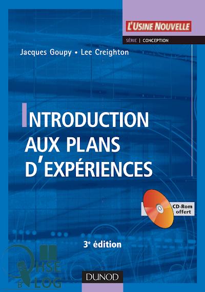 Télécharger le Livre : Introduction aux plans d'expériences.pdf