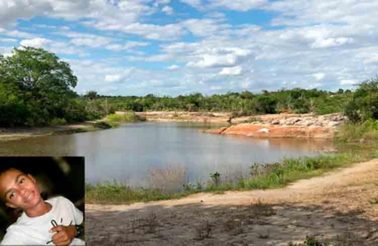Launderson Cunha de 12 anos morreu afogado em um açude no povoado de Rose - Foto: Reprodução | Calila Notícias