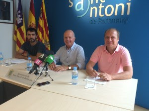 Pablo Valdés, José Tur y Juanjo Ferrer, en una imagen de archivo. Foto: L.A.