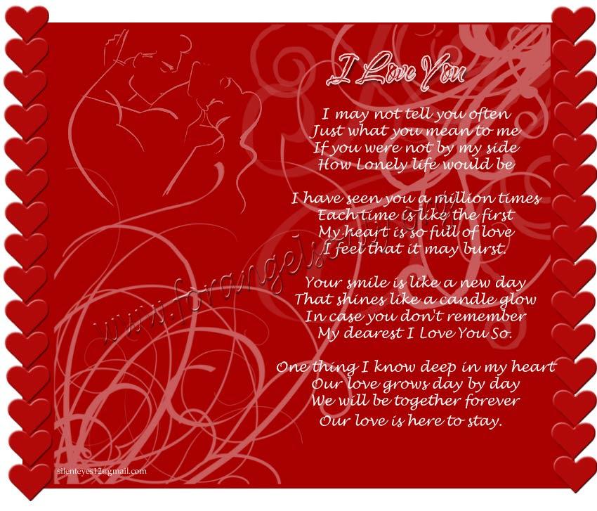 Love you i poems romantic 35 Love