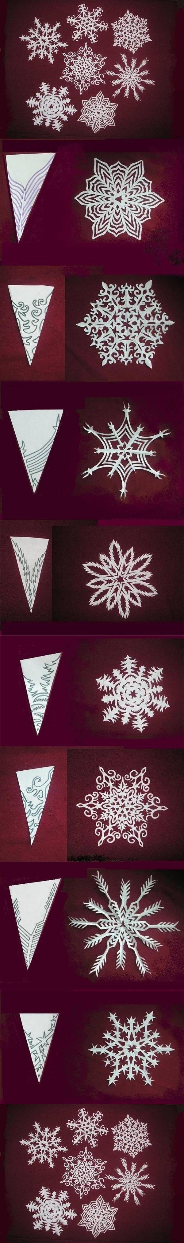 DIY Snowflakes Paper Pattern tutorial