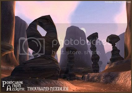 Postcards of Azeroth: Thousand Needles, by Rioriel Ail'thera