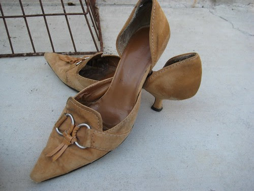 tattered 9 west shoes