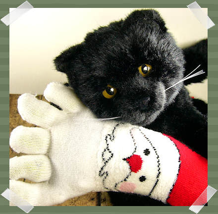 Kitteh and Santa sock