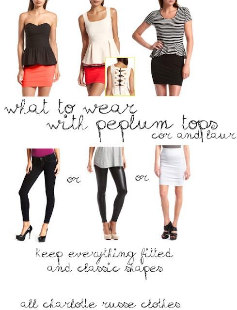 how to wear peplum tops #peplum