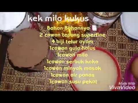 Resepi Kek Kukus Milo Santapan Senja