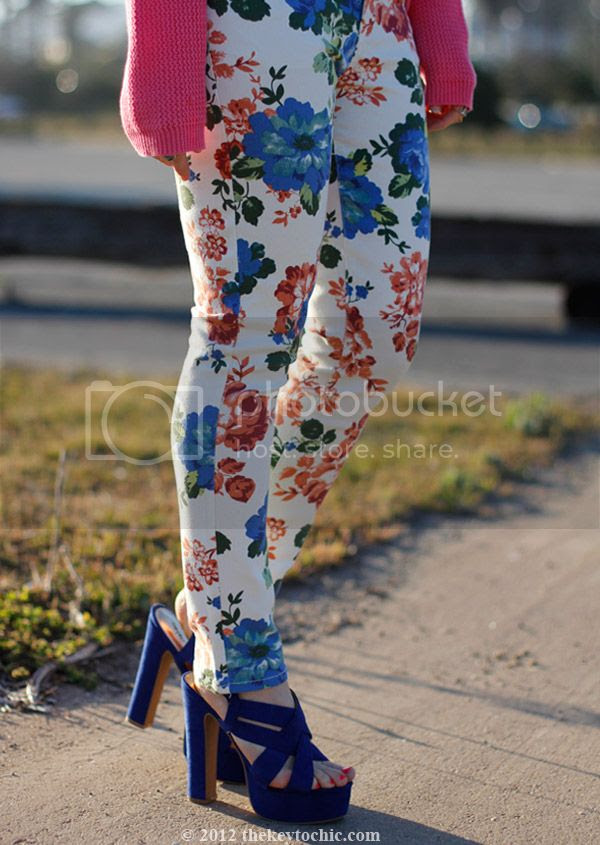 Forever 21 floral jeans, Mossimo Petene heels, Los Angeles fashion blog, southern California style
