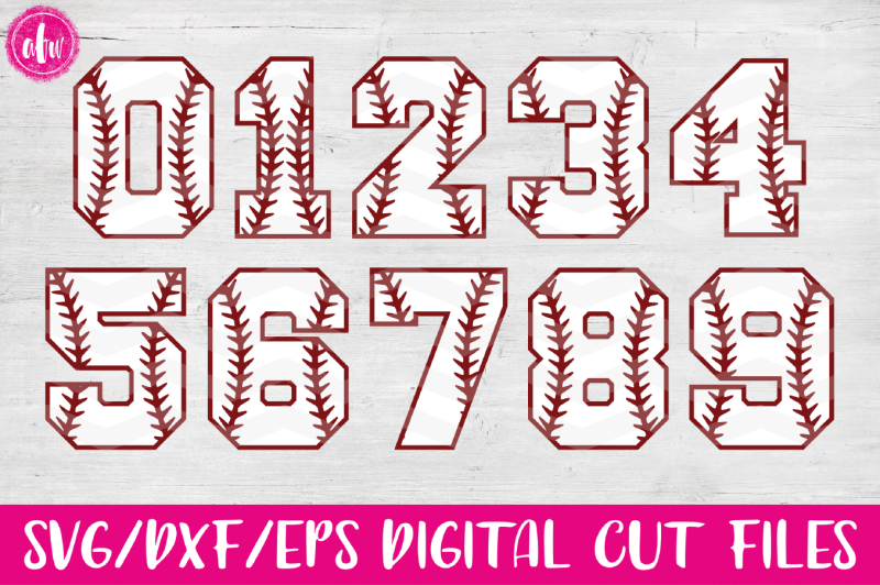 Free Baseball Softball Sports Numbers Svg Dxf Eps Cut Files Crafter File