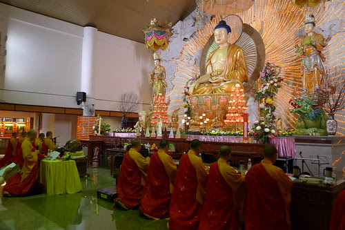 During a Buddhist ceremony