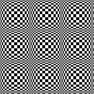 Ejemplo del filtro «Tablero de ajedrez»