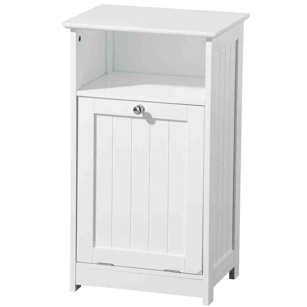 White Bathroom Floor Cabinet - Home Furniture Design