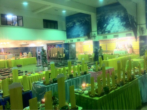 Prayer Hall decorated for Buddhist ceremony 4