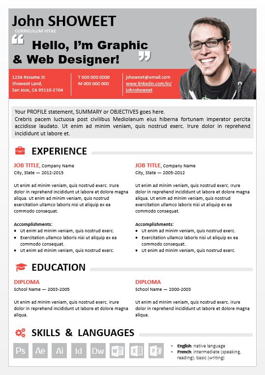 Clean-PowerPoint-Resume-screenshot