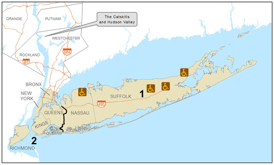 New York City And Long Island Accessible Recreation Map