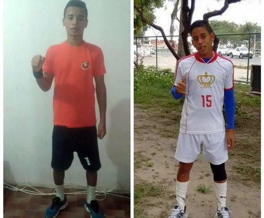 Breno e Rian são atletas/alunos do projeto Handebol Solidário