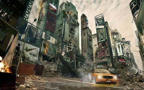 Destroyed City Background (62  images)