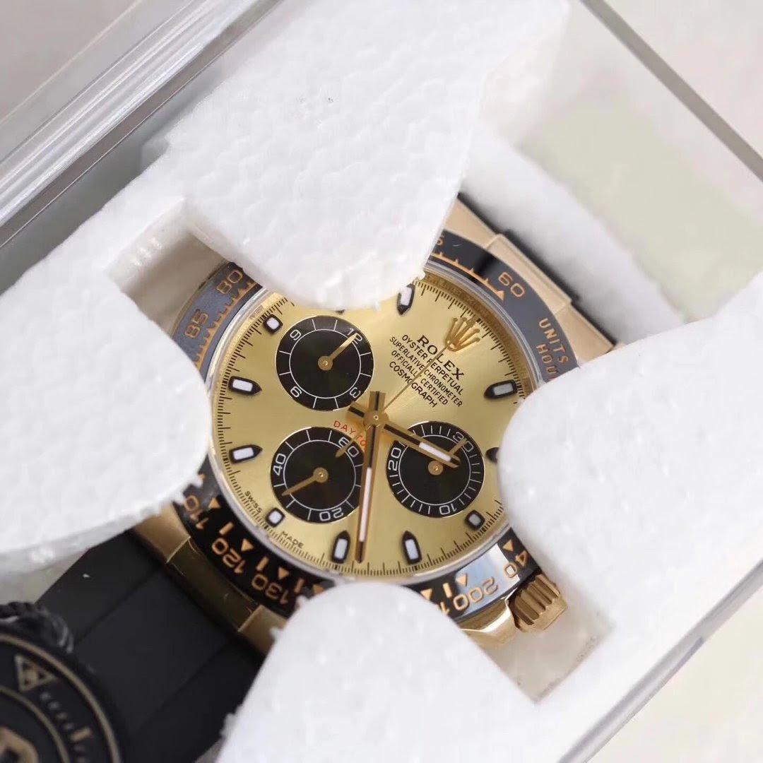 AR Factory Replica Rolex Gold Daytona