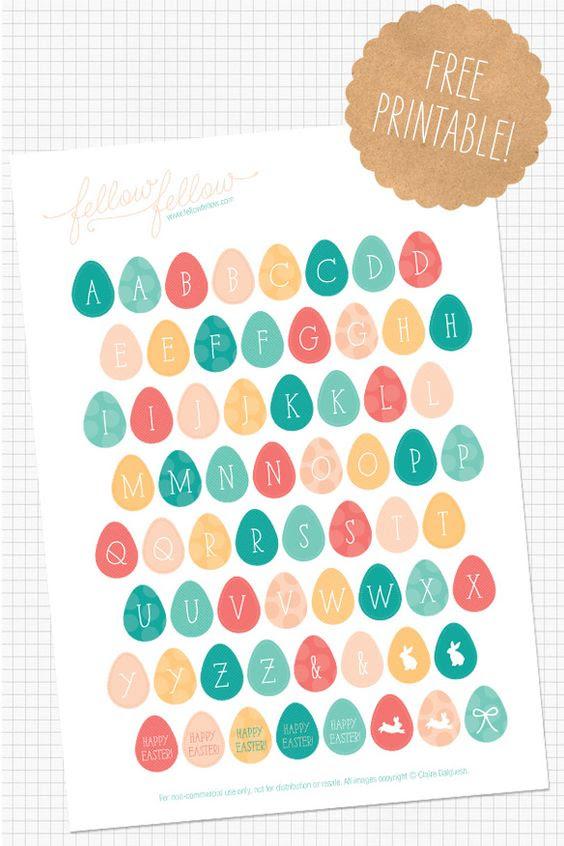 Printable Alphabet Stickers