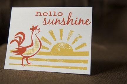 Hello Sunshine, Single Card